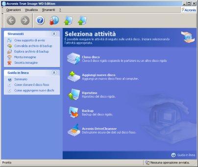 Le unità disco come rivelate dal Windows Xp con disco esterno usb