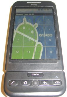 SlidePuzzle game per Android completato