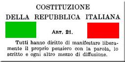 Articolo 21 Costituzione italiana