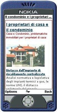 Il sito proprietaricasa.org in versione wap e pda