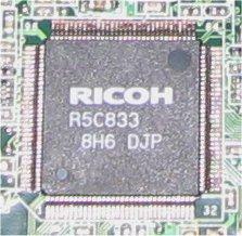 card reader ricoh r5c833
