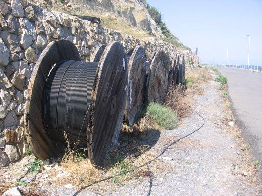 rotoli di fibra ottica