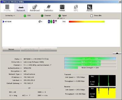 Qualità del segnale Wi-Fi con i dati di connessione
