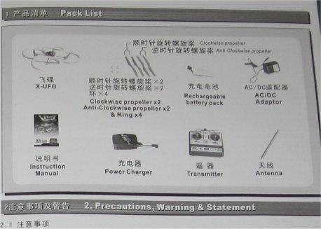 X-Ufo istruzioni